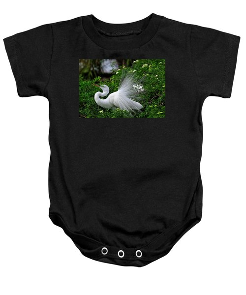 Brilliant Feathers Baby Onesie
