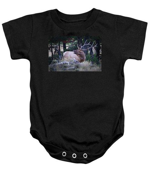 Bugling Bull Elk Baby Onesie