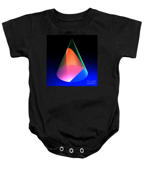 Conic Section Parabola 6 Baby Onesie