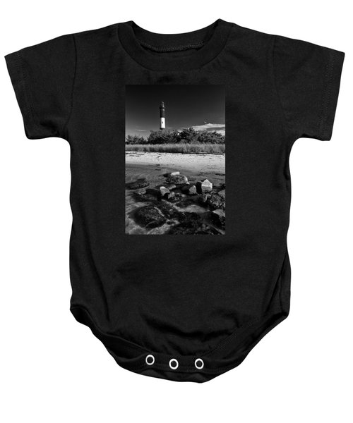 Fire Island In Black And White Baby Onesie