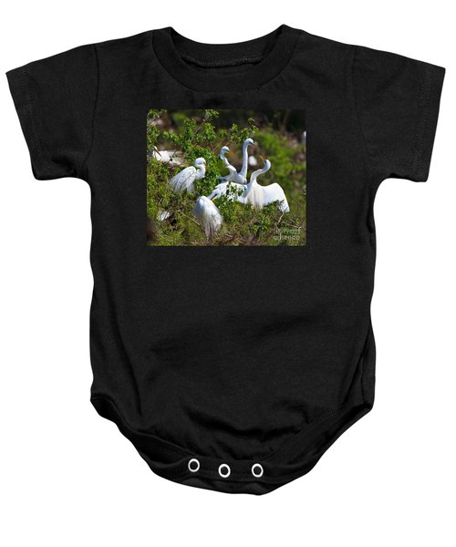 Great Egrets Courting Baby Onesie