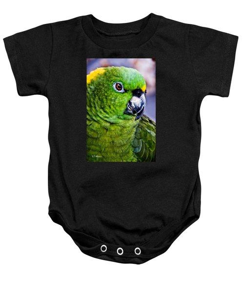 Green Parrot Baby Onesie