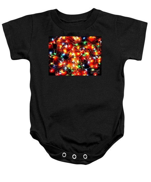 Greeting Card Christmas Color Lights Baby Onesie