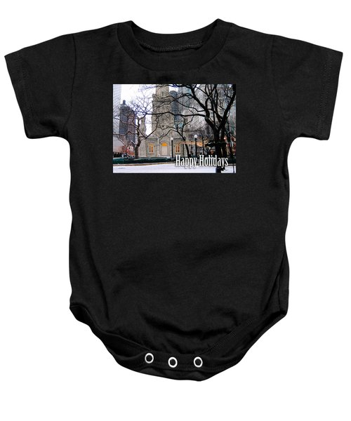 Happy Holidays From Chicago Baby Onesie
