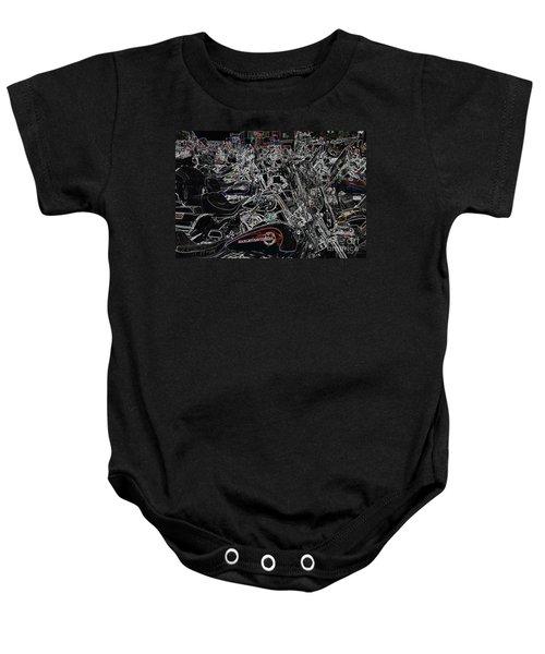 Harley Davidson Style Baby Onesie