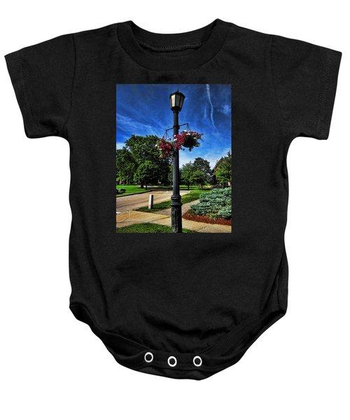Lamp Post In The Park Baby Onesie