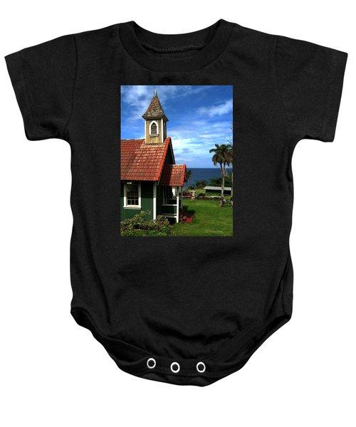 Little Green Church In Hawaii Baby Onesie