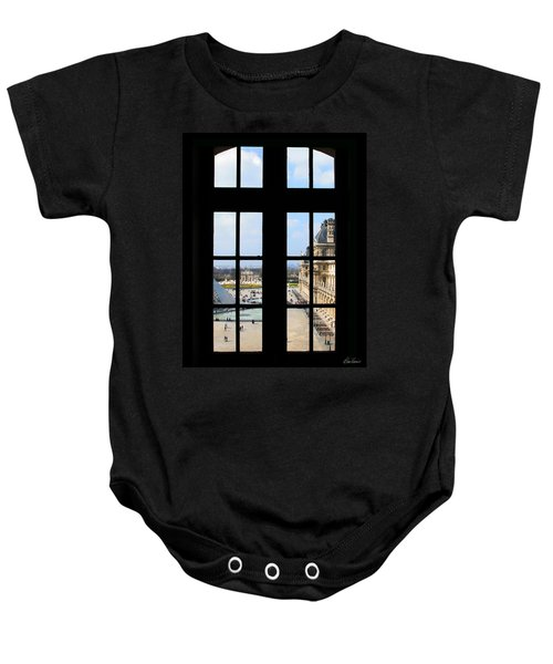 Louvre Window Baby Onesie