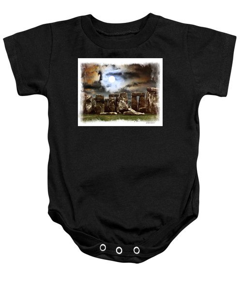 Moon Over Stonehenge Baby Onesie