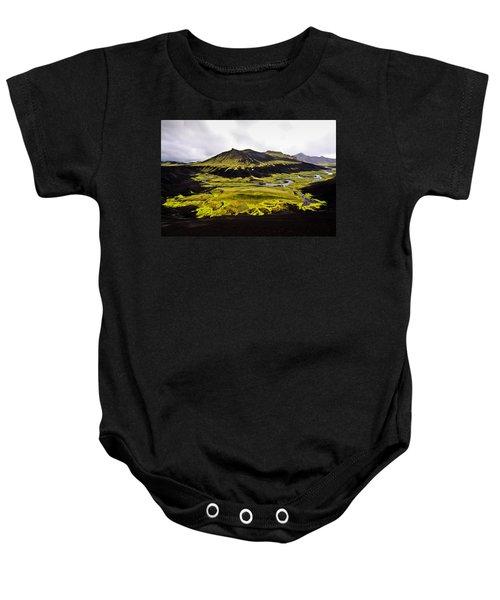 Moss In Iceland Baby Onesie