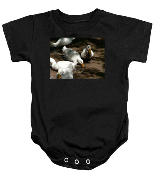 Muddy Ducks Baby Onesie