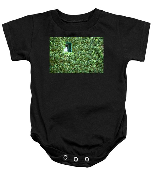 Baby Onesie featuring the photograph Napa Wine Cellar Window by Shane Kelly