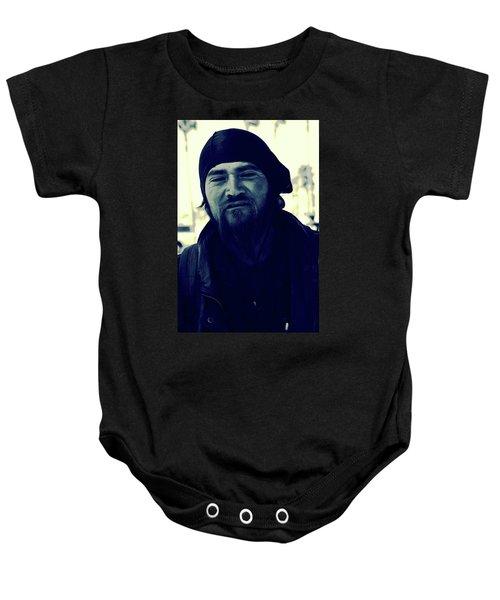 Navy Blue Man Baby Onesie