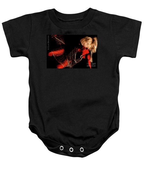 Netted A Red Baby Onesie