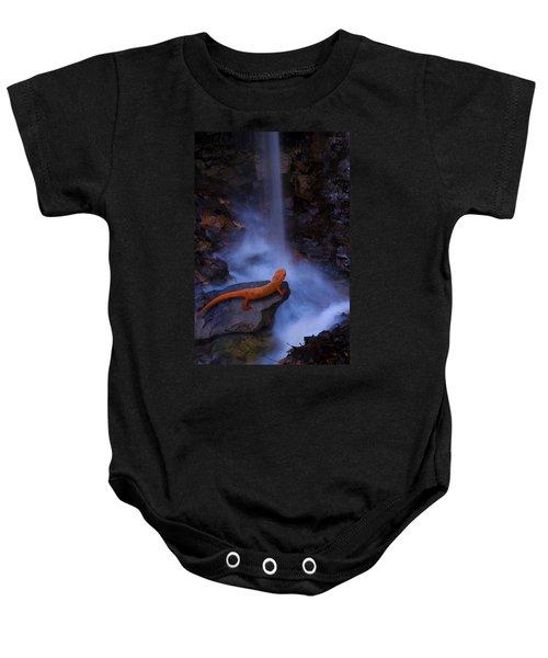 Newt Falls Baby Onesie by Ron Jones