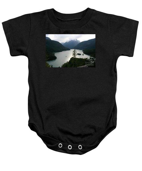 North Cascades Baby Onesie