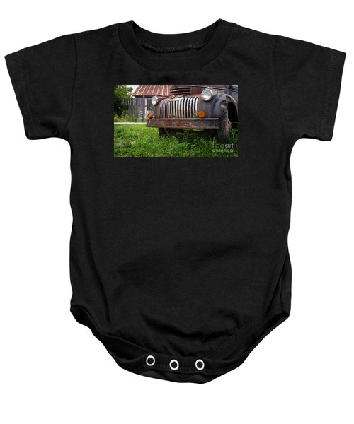 Old Abandoned Pickup Truck Baby Onesie