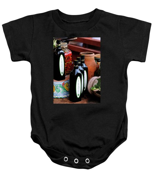 Olives And Olive Oil Baby Onesie
