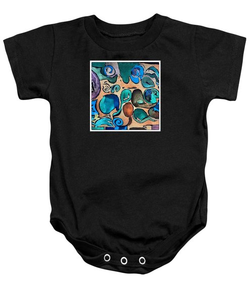 Circles Of Colors.... Baby Onesie