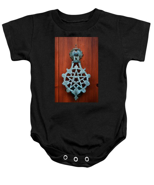 Pentagram Knocker Baby Onesie