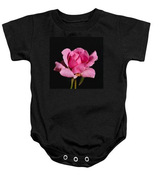 Pink Tea Rose Baby Onesie