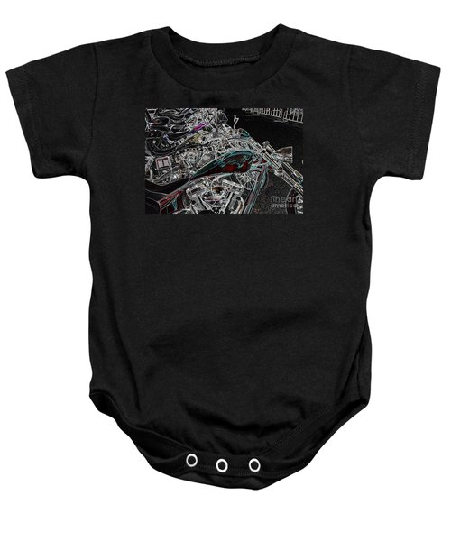 Pop Lock And Chop Baby Onesie