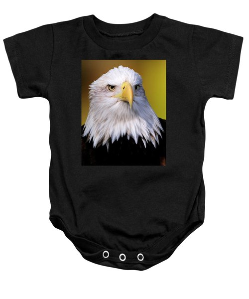 Portrait Of A Bald Eagle Baby Onesie