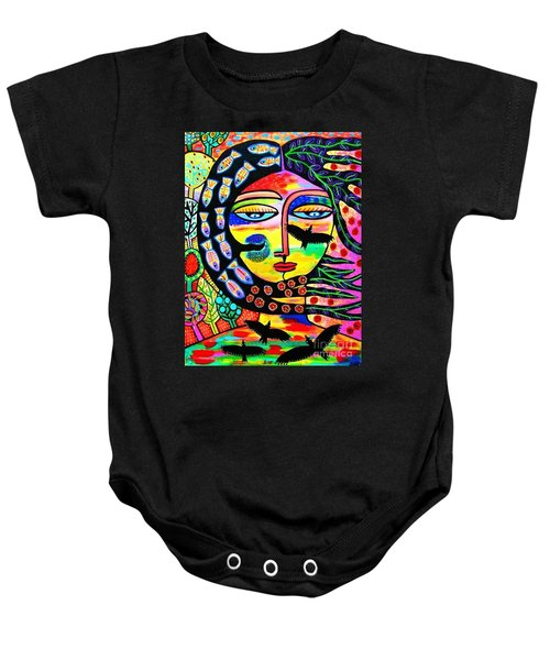 Raven Goddess Baby Onesie