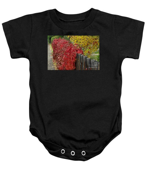 Red Fence Baby Onesie