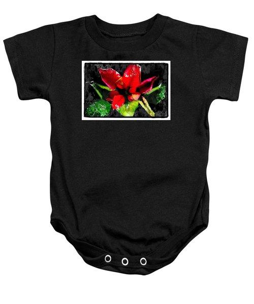 Red Leaves Baby Onesie
