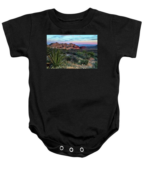 Red Rock Sunset II Baby Onesie
