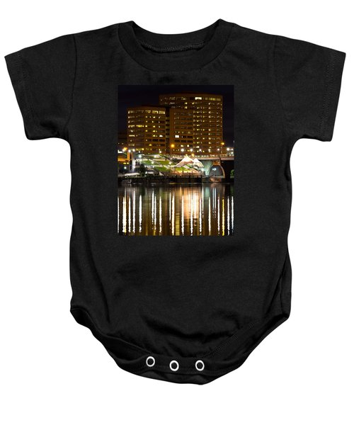 River Front At Night Baby Onesie