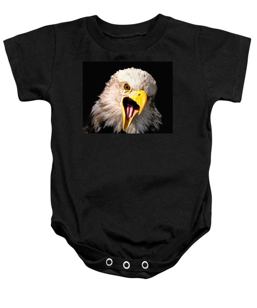 Screaming Eagle II Black Baby Onesie