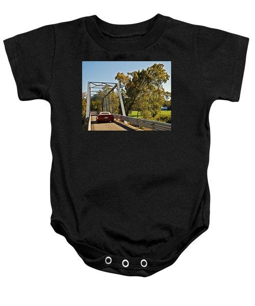 Sports Car On A Bridge Baby Onesie