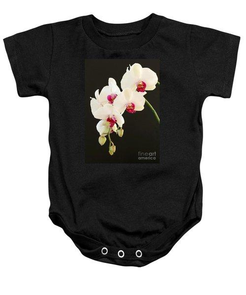Spray Of White Orchids Baby Onesie