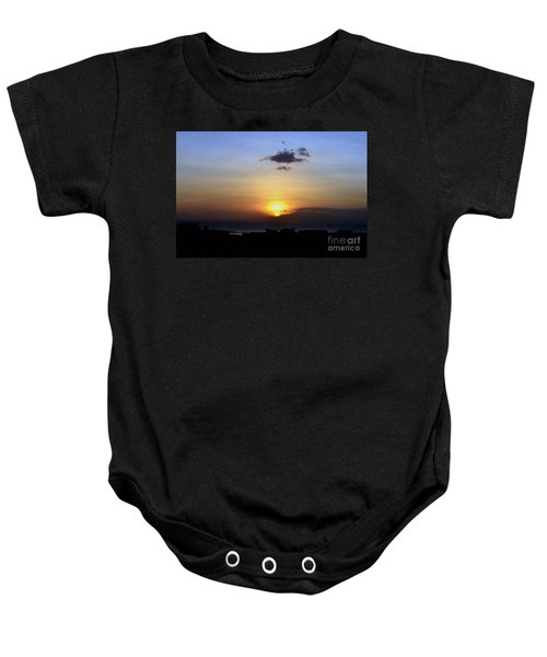 Sunset Upon The Ocean Number Two Baby Onesie