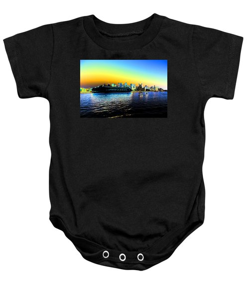 Sydney In Color Baby Onesie by Douglas Barnard