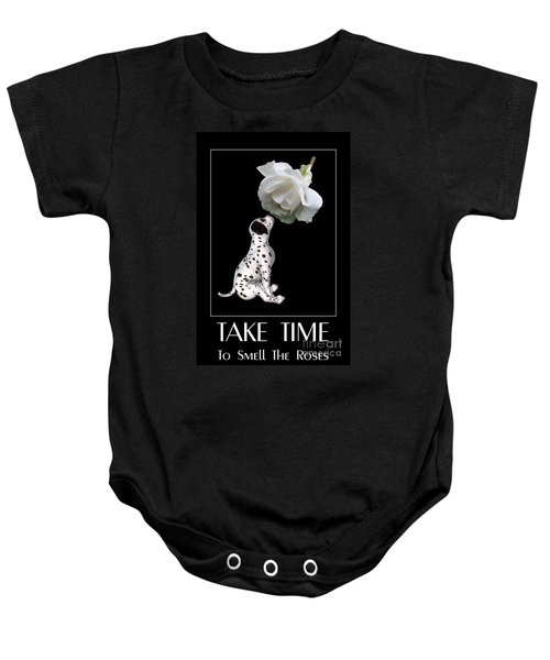 Take Time To Smell The Roses Baby Onesie