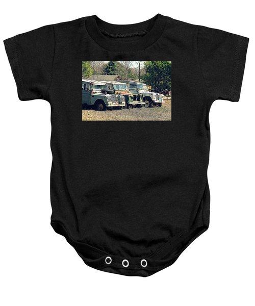 The Land Rover Graveyard Baby Onesie