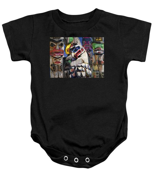 Totem Poles In The Pacific Northwest Baby Onesie
