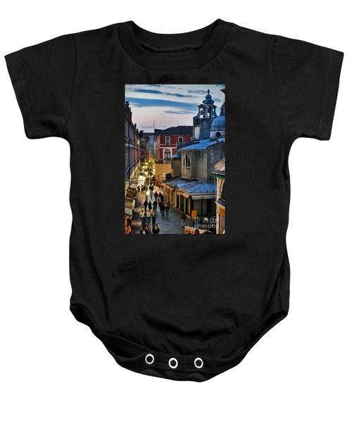 Venice From Ponte Di Rialto Baby Onesie