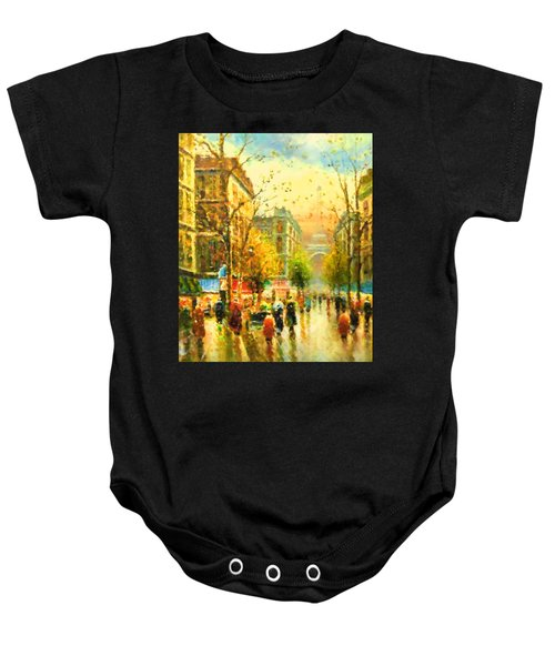 Walking In The Rain Baby Onesie