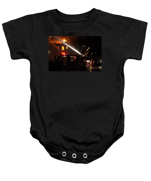 Water On The Fire From Pumper Truck Baby Onesie