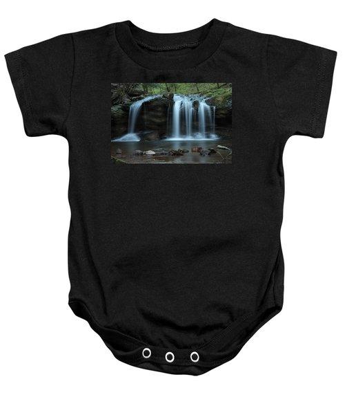 Waterfall On Flat Fork Baby Onesie