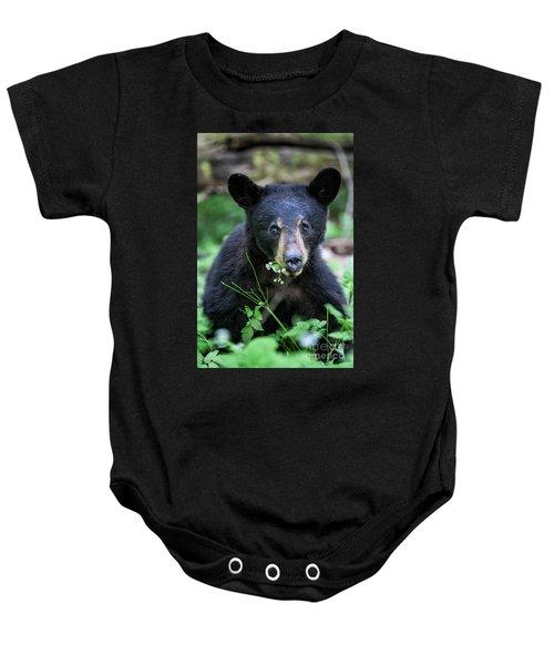 Wildflower Bear Baby Onesie