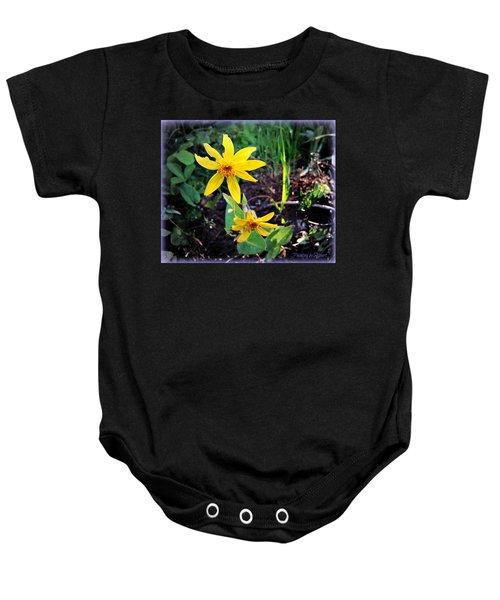 Woods Flower Baby Onesie