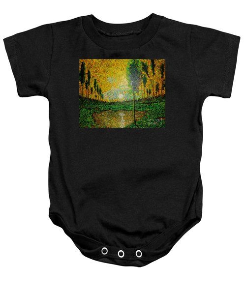 Yellow Pond Baby Onesie