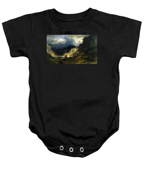 A Storm In The Rocky Mountains Mt. Rosalie Baby Onesie