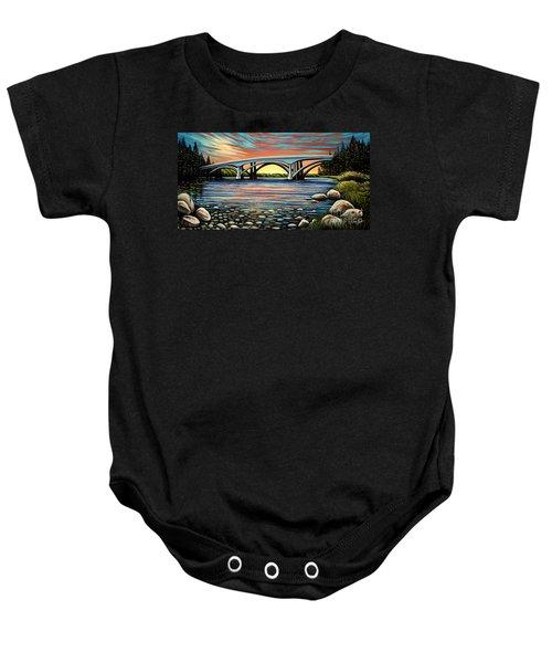 Folsom Bridge Baby Onesie
