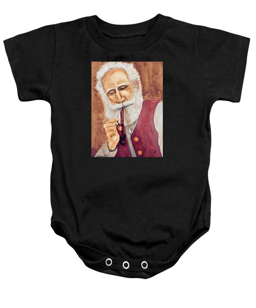German With Pipe No. 2 Baby Onesie